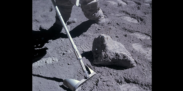 A small sample of lunar soil collected by Apollo astronauts may have an age bias. (NASA/Apollo 16 photo)