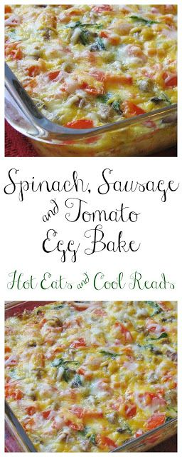 Spinach And Tomato Egg Bake With Gold'n Plump Chicken Breakfast Sausage Recipe