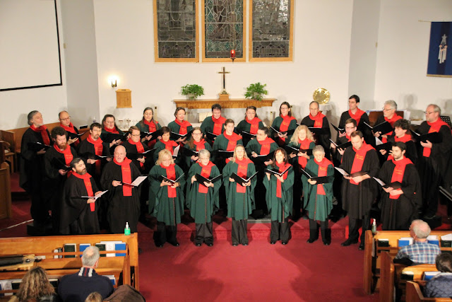 The Stairwell Carollers in concert at ST. Thomas Stittsville 2016