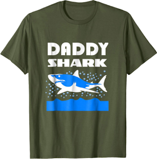 funny Daddy Shark T-shirt Gift for Fathers