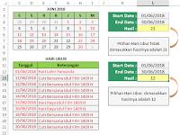 Cara Menghitung Jumlah Hari Kerja di Excel
