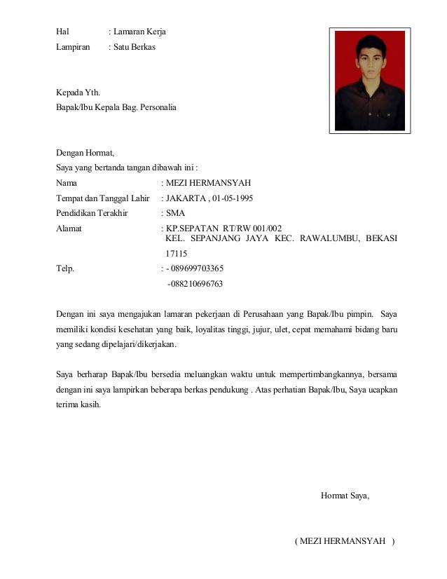 Contoh Surat Lamaran Kerja Gudang Document