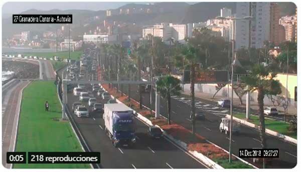 Por accidente múltiple grandes retenciones, Avenida Marítima, Altura Granadera Canaria