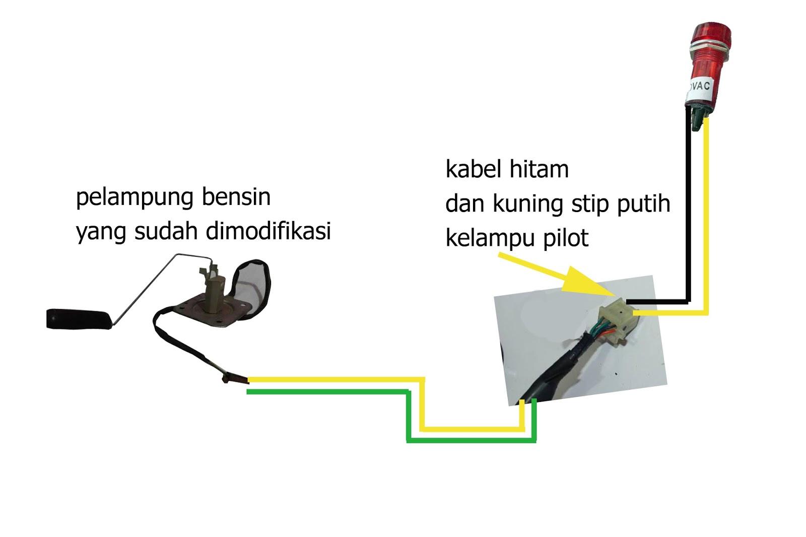 Bagi Bagi Ilmu Gratis  Membuat Indikator Bensin Motor Custom