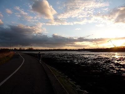 tipner lake m275 motorway promenade cycle route