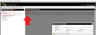 K2 Workspace Management Console Missing