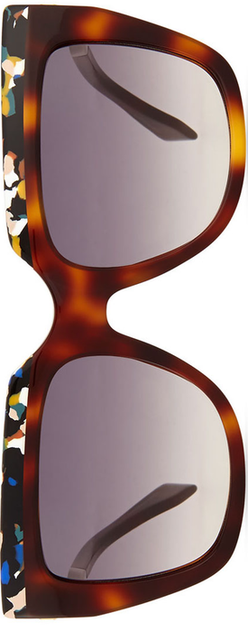 Fendi Galassia Contrast Square Sunglasses
