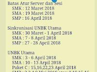 Jadwal Lengkap UN UNBK SMP SMA SMK Tahun 2018