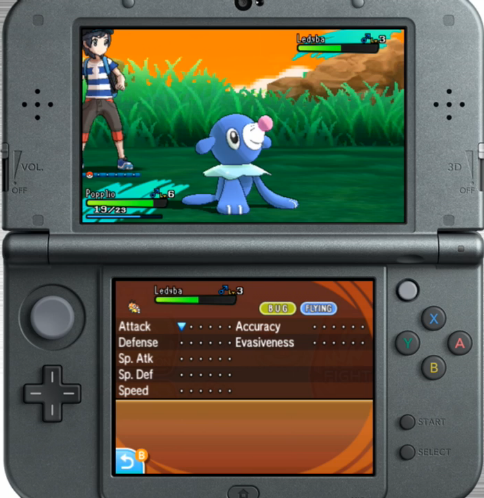 Pokémon Sun Moon stat modifer screen changes