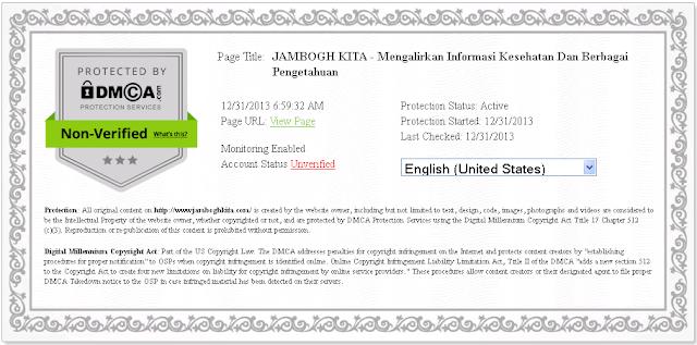 Mendaftarkan Aghas Hijaoe Ke DMCA