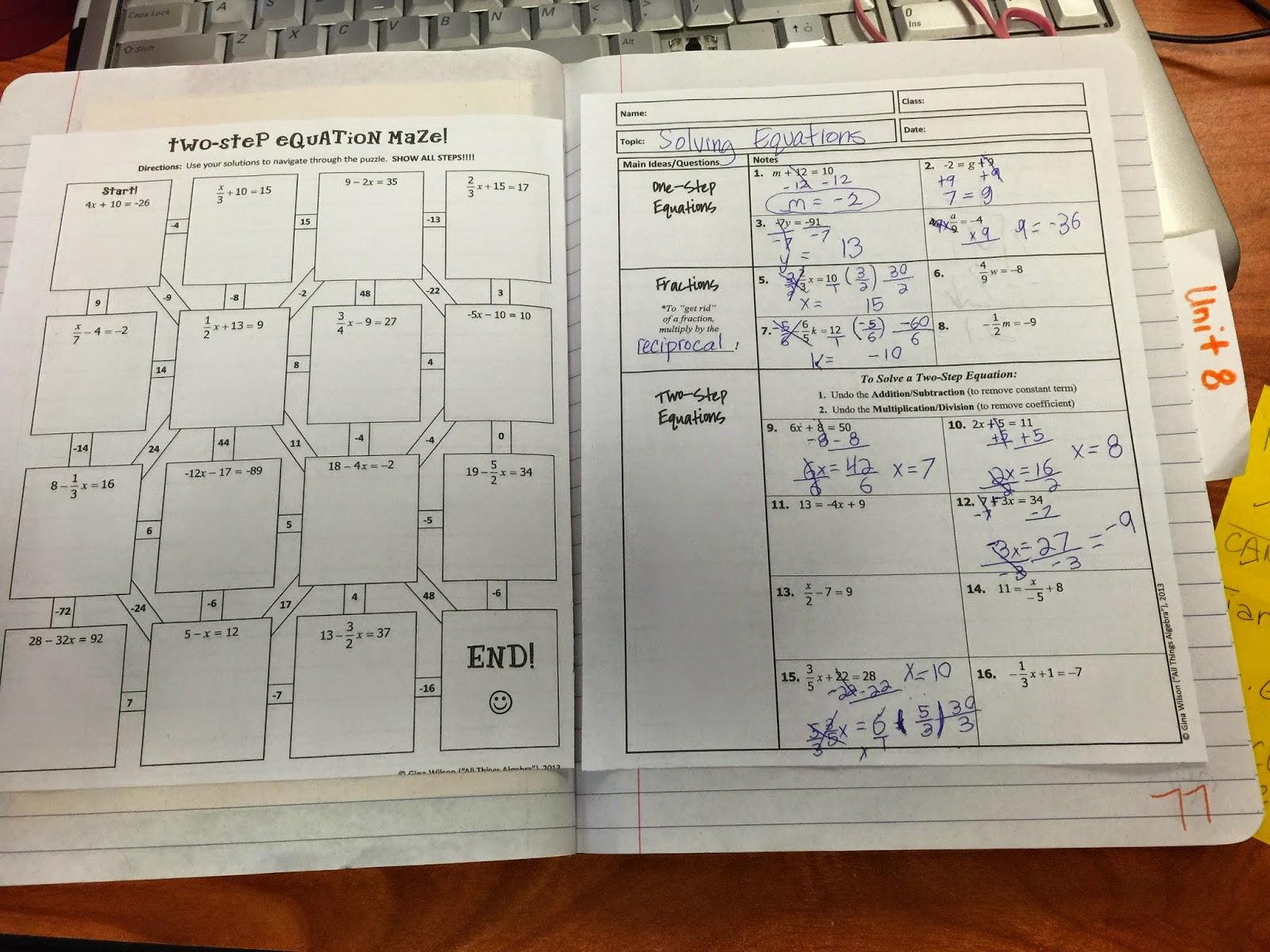 Algebra 1 Unit 8 Test Quadratic Equations Answers Gina ...
