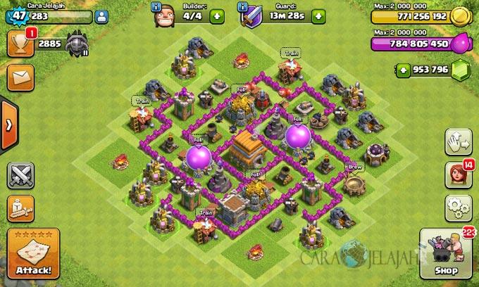 pertahanan terbaik untuk base war th 6 di clash of clans 11