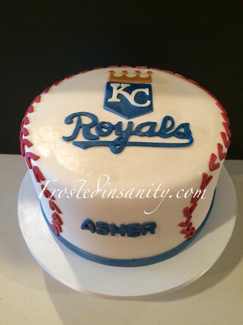 Frosted Insanity Baseball Birthday Cake