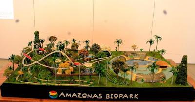Maquete do Amazonas Biopark