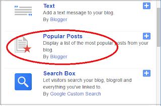 Popular Posts Widget kaise Add kare Blogger me
