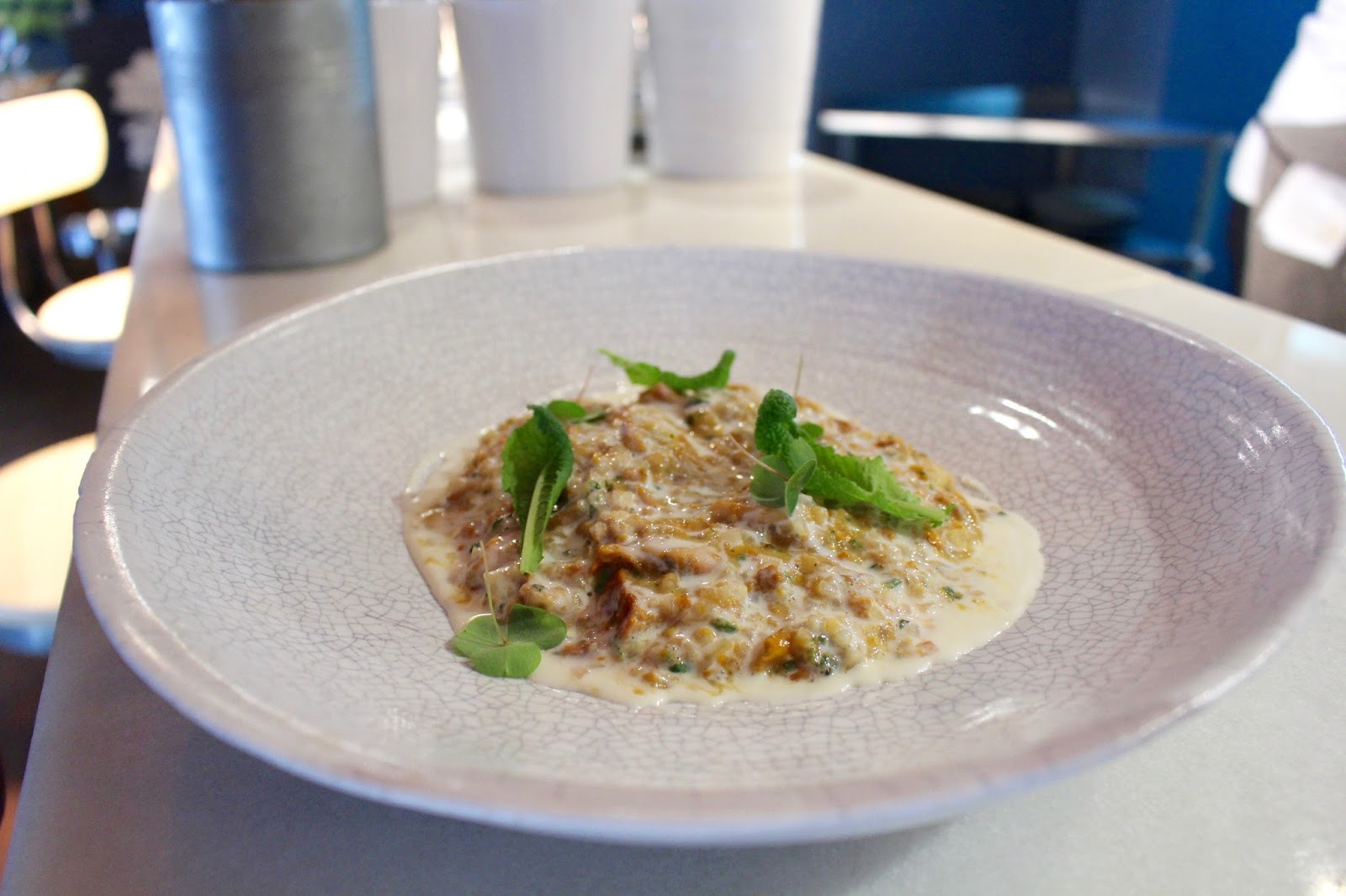 "Celeriac ""risotto"" with wild mushrooms (no rice)"