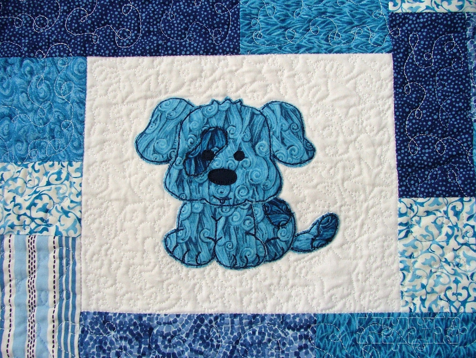 Two Of Four New Commission Baby Boy Quilt And Block