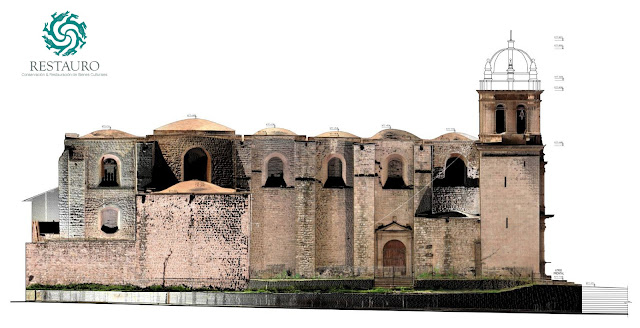 Restauro sac_Templo de Belén-Cusco_JRC 3D Reconstructor_CAD redrawing on the high-res orthophoto