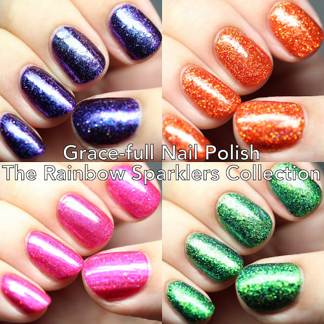Grace-full Nail Polish The Rainbow Sparklers Collection