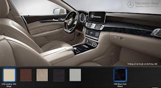 Nội thất Mercedes CLS 500 4MATIC 2016 màu Vàng Silk 245
