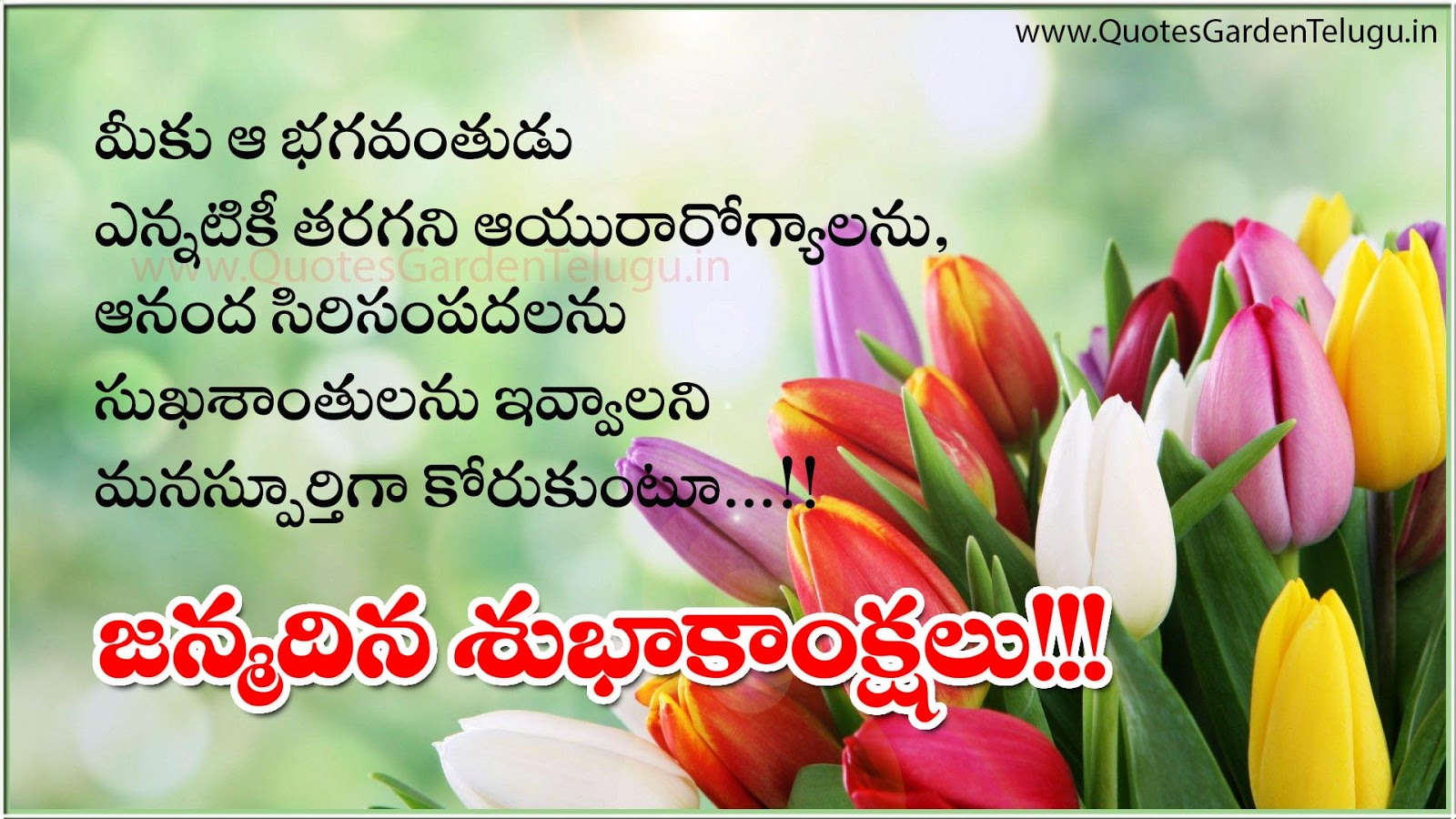 Pleasing Telugu Happy Birthday Greetings Wishes Quotes Garden Telugu Personalised Birthday Cards Veneteletsinfo