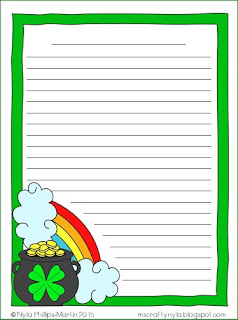 St. Patrick's Day classroom writing activity sheets