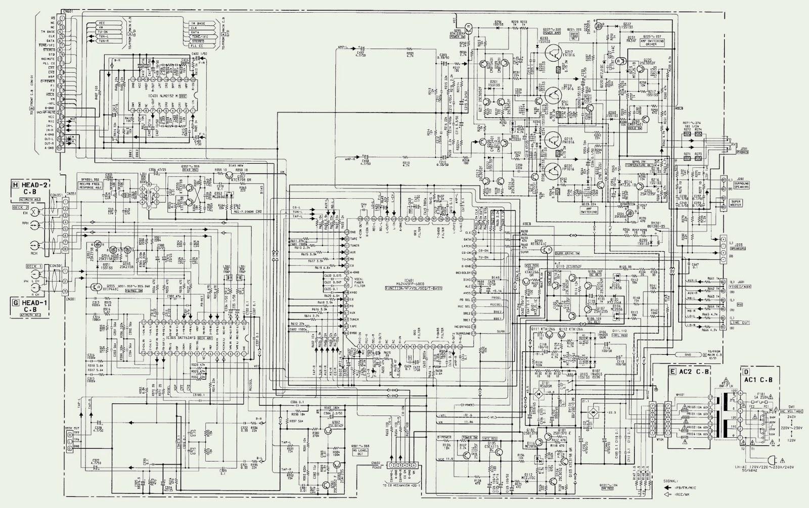 AIWA NSX S509LX – NSX S514EZ  CIRCUIT DIAGRAM (Schematic