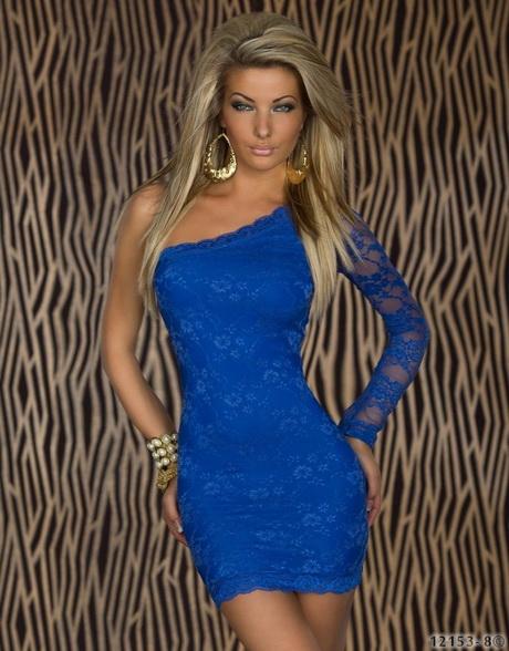 vestido de moda azul