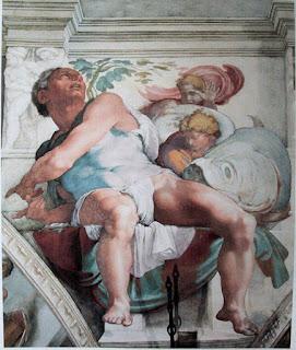 Profeta Jonas, Capela Sistina, Michelangelo