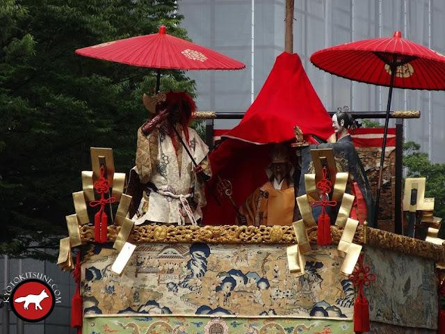 Décoration de yama a Gion matsuri à Kyoto