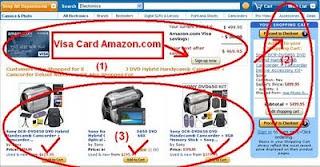 belanja Amazon dengan Visa card