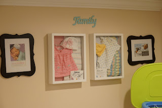 Easy DIY Newborn Hospital Shadow Boxes