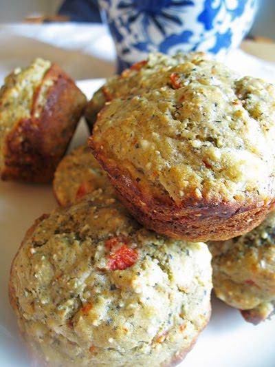 goat cheese quinoa muffins