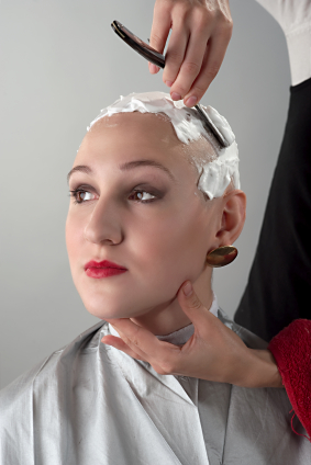Getting Her Head Shaved 97