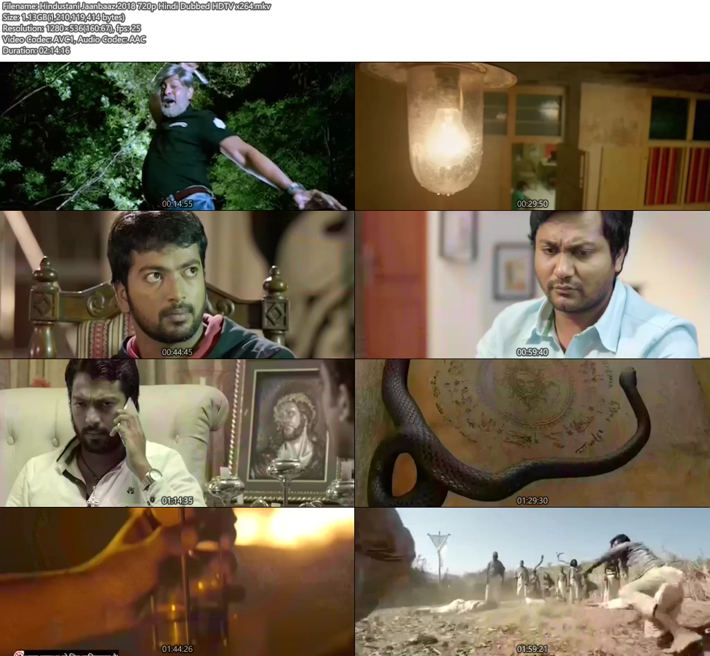 Hindustani Jaanbaaz 2018 720p Hindi Dubbed HDTV x264 | 480p 300MB | 100MB HEVC Screenshot