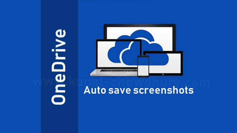 How to automatically take backup of screenshots to OneDrive