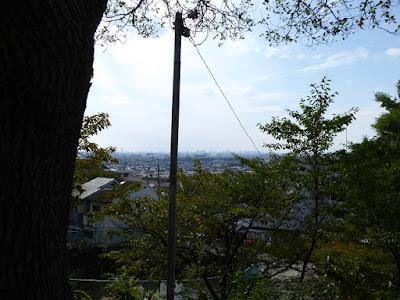 四條畷神社 駐車場からの眺め