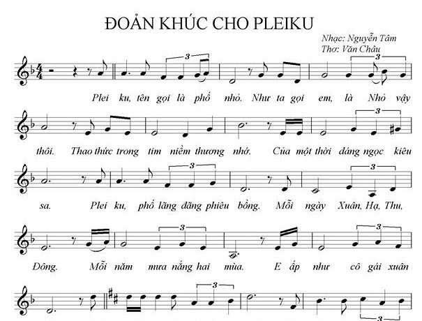 Đoản khúc cho Pleiku