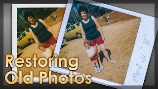 Restoring Scanned Old Photos - Lightroom Classic CC Tutorial