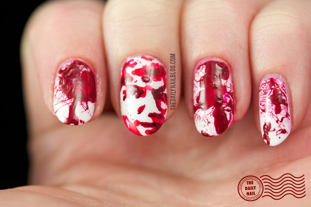 All Wrapped Up - Dexter Season 8 nail art_2