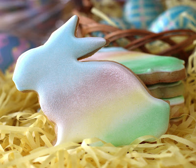 Rainbow Rabbit Cookies