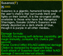 naruto castle defense 6.0 susano detail