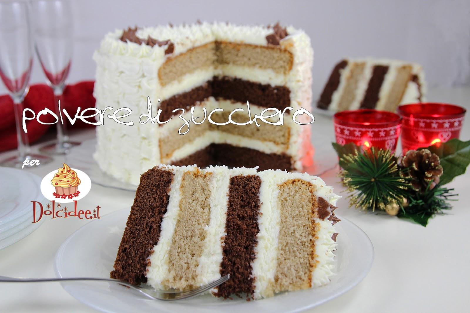 torta ricetta tutorial cioccolato cannella cheese cream natale inverno dolci spezie cameo paneangeli dolcidee