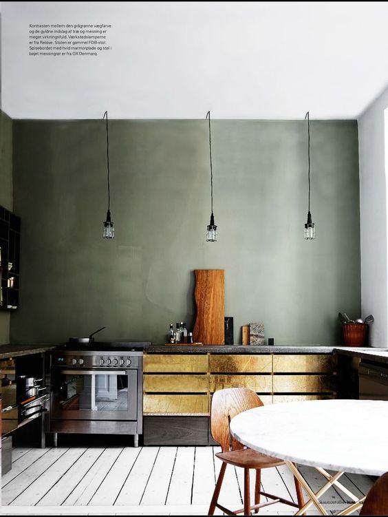 home garden 20 inspirations pour un int rieur couleur kaki. Black Bedroom Furniture Sets. Home Design Ideas
