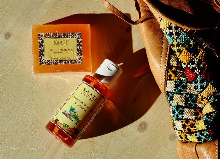 Swati Ayurveda Olej na porost włosów oraz Mydło imbir - pomarańcza
