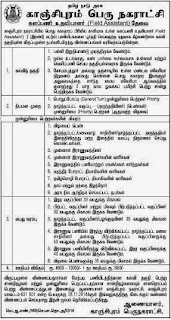 Kanchipuram Municipality Field Assistant Recruitment November 2014 (www.tngovernmentjobs.in)
