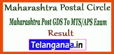 Maharashtra Post GDS To MTS APS Exam Result