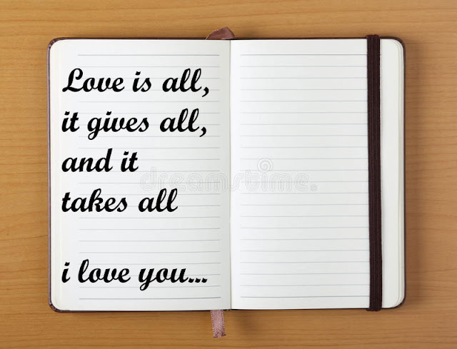 Love is all it gives