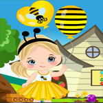 Games4King Merry Girl With Balloon Rescue