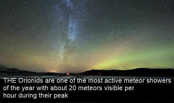 orionids meteor shower 2018